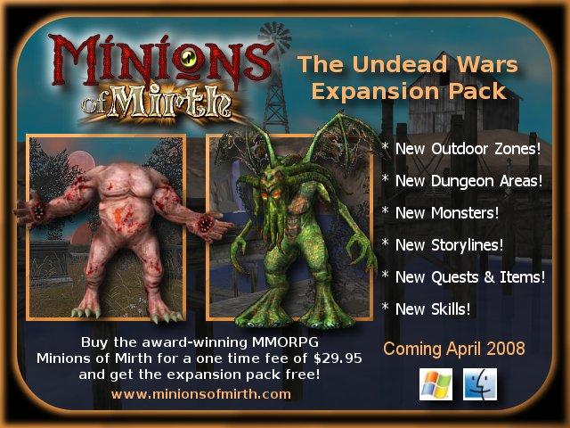 Minions of Mirth se meni ve velkou hru! Datadisk Predstaven. Announcement